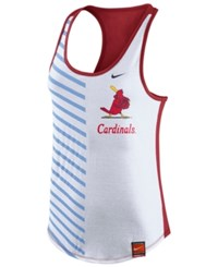 Nike Women's St. Louis Cardinals Coop Striped Racerback Tank White Red