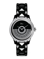 Christian Dior Dior Viii Grand Bal Diamond Black Mother Of Pearl Black Ceramic And Stainless Steel Automatic Br