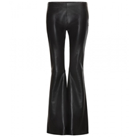 Acne Studios Luisa Flared Leather Trousers Black