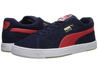 Puma Suede Skate Peacoat High Risk Red Men's Shoes Navy