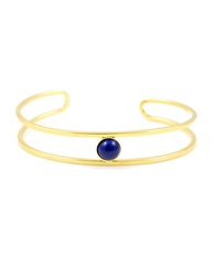 Gerard Yosca 18K Gold Plated Open Cuff Blue