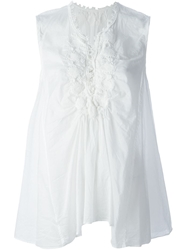 Zucca Embroidered Detail Blouse White