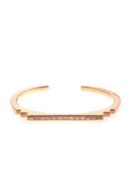 Monique Pean White Diamond And Rose Gold Cuff