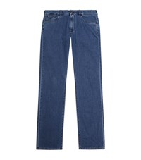 Canali Cotton And Cashmere Jeans Male Blue