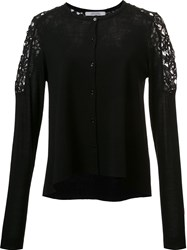 Dorothee Schumacher Lace Panel Cardigan Black