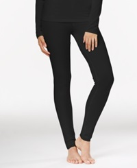 Cuddl Duds Softwear Lace Leggings Black