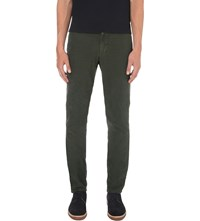 Slowear Slim Fit Tapered Cotton Chinos Olive