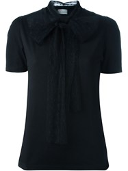Red Valentino Classic T Shirt With Polka Dot Sheer Scarf