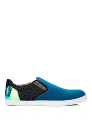 Christian Louboutin Contrast Panel Slip On Trainers