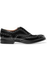 Church's The Burwood Met Studded Glossed Leather Brogues Black