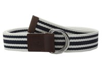 Cole Haan 38Mm D Ring Webbing Pinch Belt Blue White Women's Belts