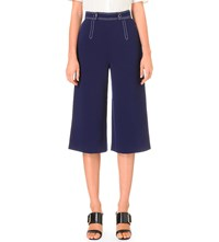 Whistles Hester Crepe Culottes Blue