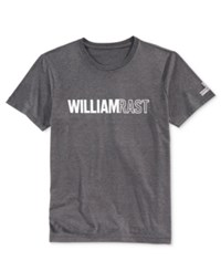 William Rast Men's Graphic Print T Shirt White Grey