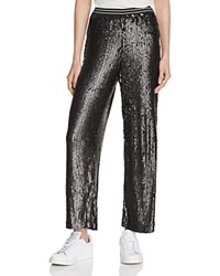 Free People Just A Dream Sequin Pants Black