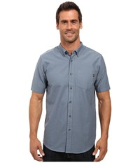 Oakley Foundation Woven Top Blue Mirage Men's Clothing