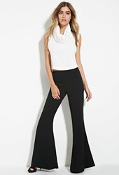 Forever 21 High Waisted Flared Pants Black
