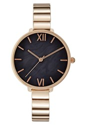 Kiomi Watch Rose Goldcoloured Black