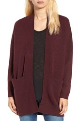 Women's Bp. Open Front Cardigan Burgundy Stem
