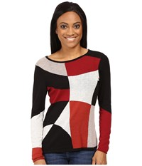 Nic Zoe Petite Rubied Intarsia Top Multi Women's Sweater