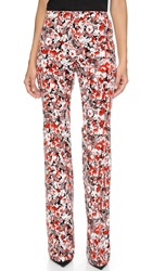 Giambattista Valli Velvet Flare Pants Red Multi