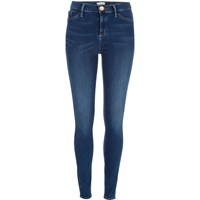 River Island Womens Mid Blue Wash Sateen Molly Jeggings