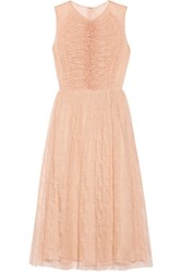 Jason Wu Ruched Lace Midi Dress Blush