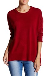 Sweet Romeo Crew Neck Pullover Sweater Red