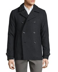 Penguin Double Breasted Wool Blend Peacoat Multi