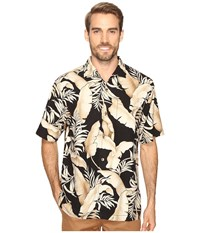 Tommy Bahama Frego Fronds Short Sleeve Woven Shirt Black Men's Short Sleeve Button Up