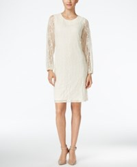 Styleandco. Style Co. Sheer Sleeve Lace Dress Only At Macy's Vintage Cream