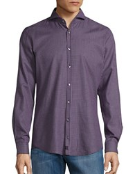 Strellson Patterned Sportshirt Medium Purple