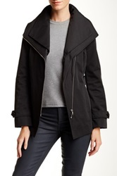 Soia And Kyo Removable Collar Rain Trench Coat Black