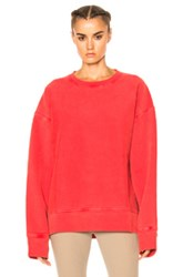 Yeezy Season 3 Diagonal Fleece Sweatshirt In Red