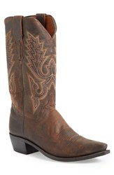 Lucchese Men's 'Madras' Western Boot Chocolate