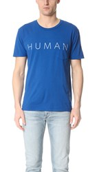 Quality Peoples Human Pocket Tee Mazzy Blue