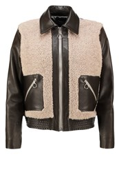 Harmony Mae Leather Jacket Kaki Khaki