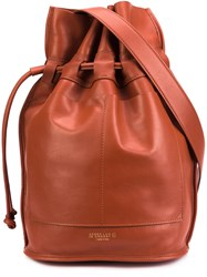 Derek Lam 10 Crosby Drawstring Bucket Bag Brown