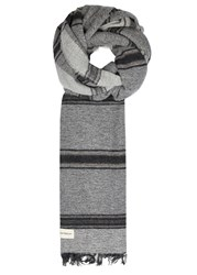 Oliver Spencer Pepso Checked Alpaca Blend Scarf Grey