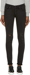 Rag And Bone Black Destroyed Stretch Skinny Jeans