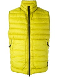 Stone Island Padded Vest Yellow And Orange