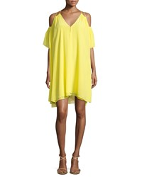 Apiece Apart Appolonia Cold Shoulder Sun Dress Yellow Women's
