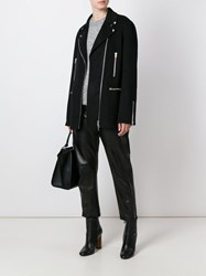 Alexander Wang Asymmetric Zip Coat Black