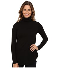 Karen Kane Long Sleeve Turtleneck Tee Black Women's T Shirt