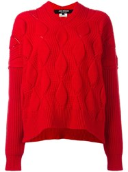 Comme Des Garcons Junya Watanabe Ribbed Jumper Red