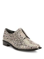 Robert Clergerie Jaml Metallic Print Leather Oxfords Sand Pour