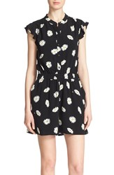 Women's Kate Spade New York 'Daisy Dot' Floral Print Crepe Romper