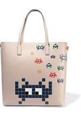 Anya Hindmarch Ebury Embossed Leather Tote Ivory