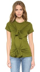Marques Almeida Slashed And Knotted Tee Shirt Green