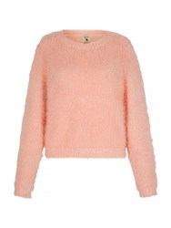Yumi Fluffy Relaxed Fit Jumper Peach