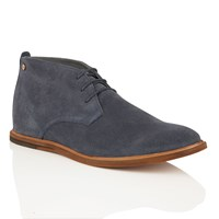 Frank Wright Strachan Mens Lace Up Boots Navy